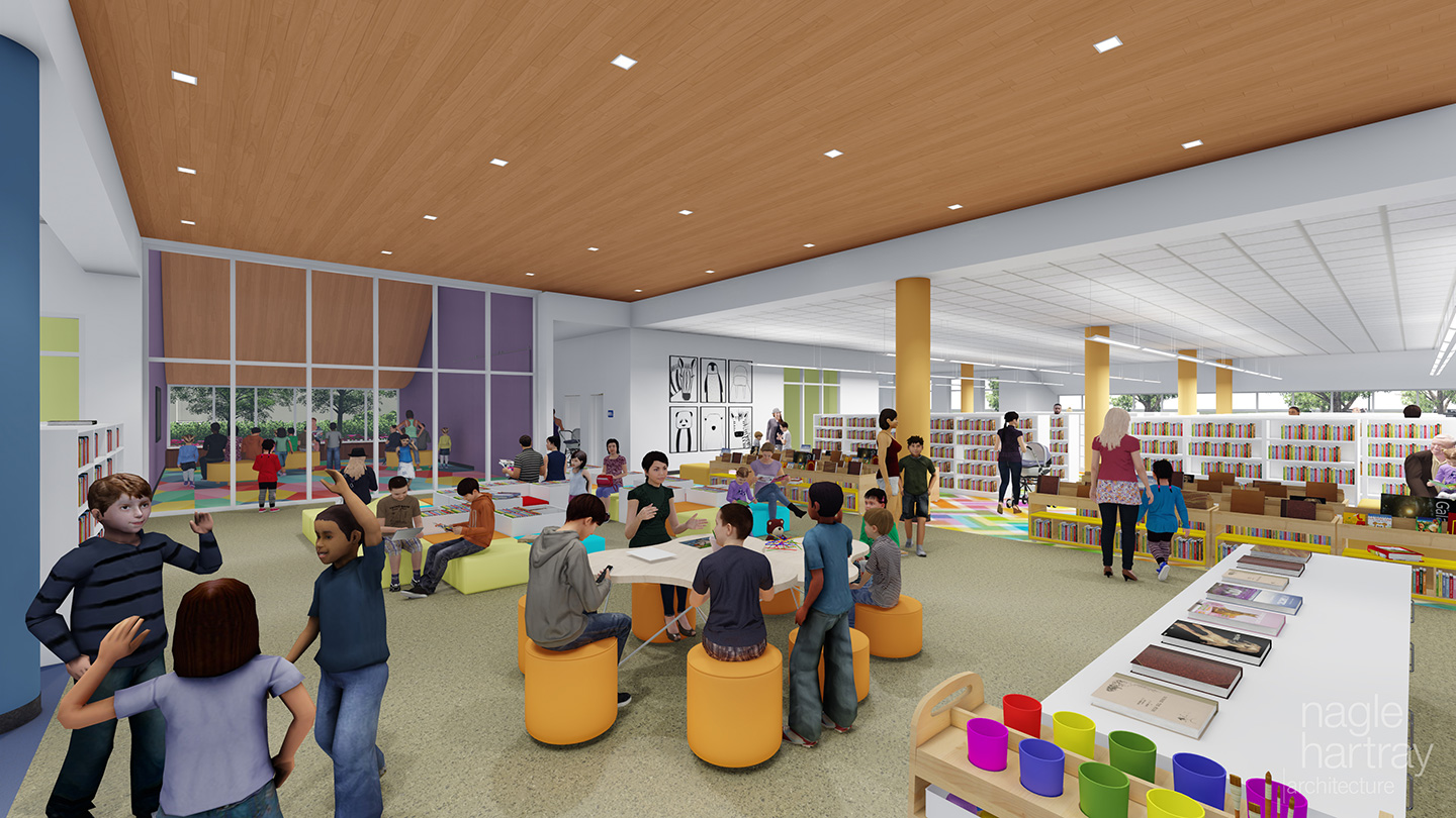 In This New Design Youth Services Will Be On The Ground Floor Making Visiting Library With Strollers