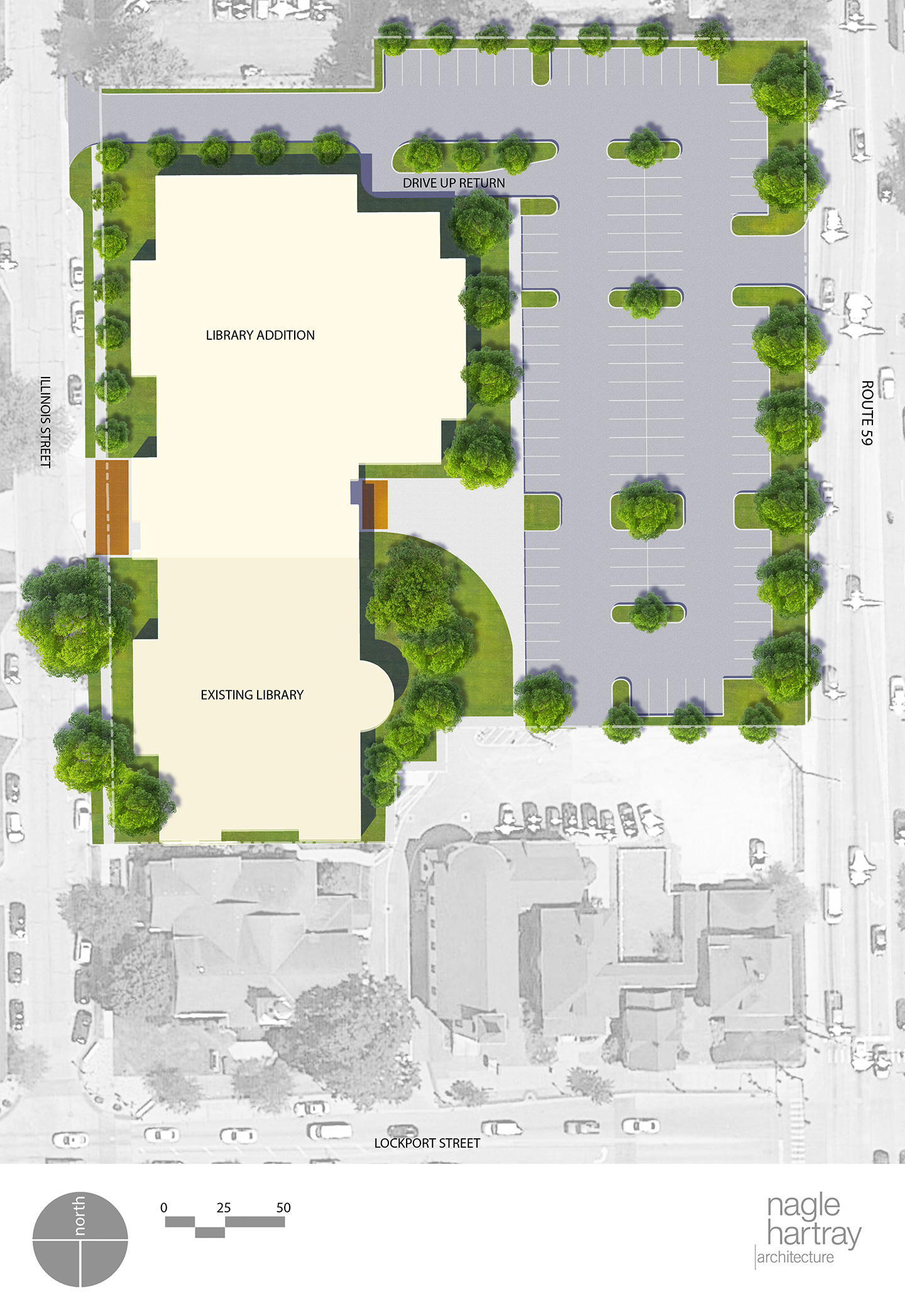 This Site Plan Shows The Current 27000 Square Foot Building And 23000 One Story Addition That Would Be Added On North End