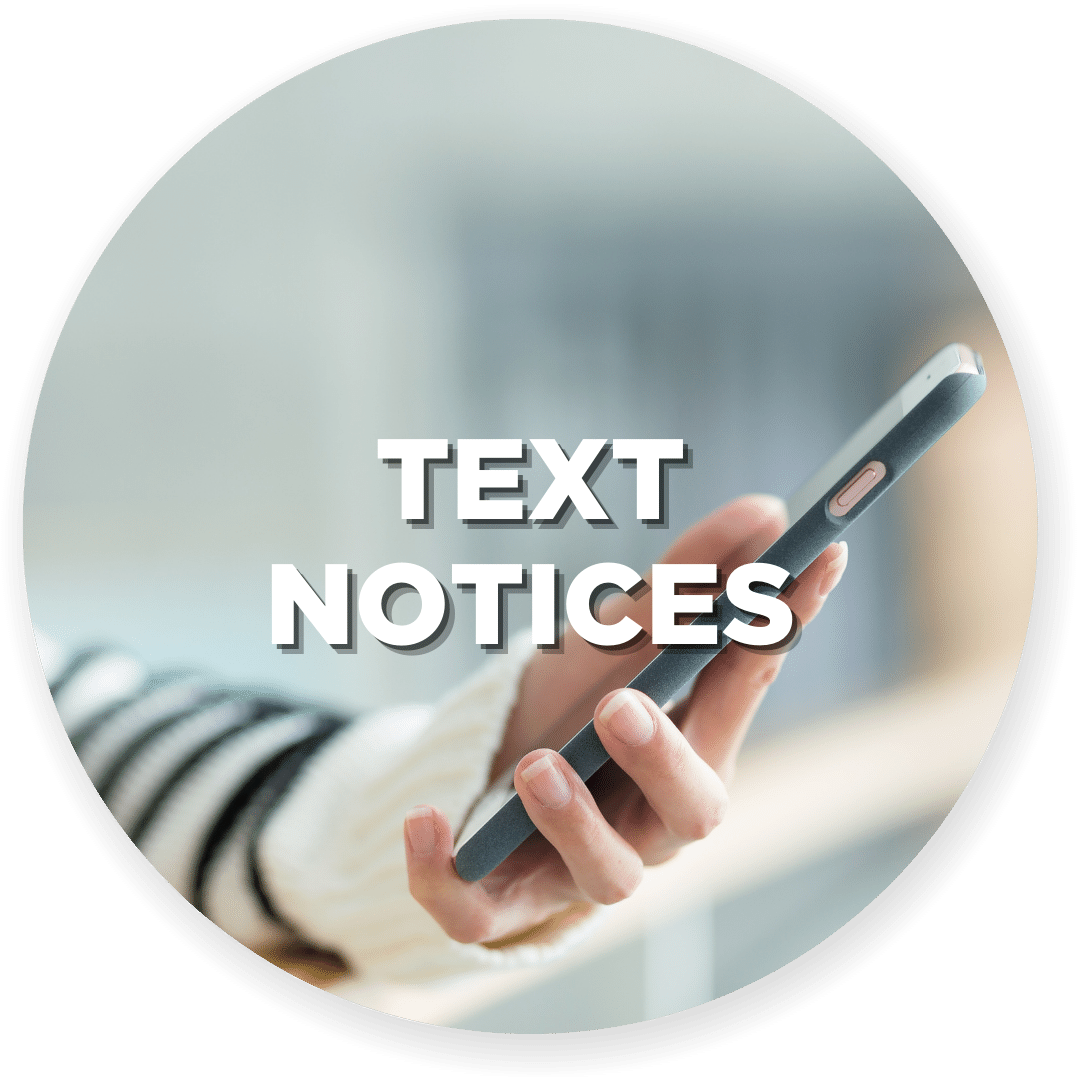 Text Notices